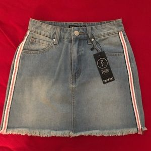 Boohoo Denim Skirt